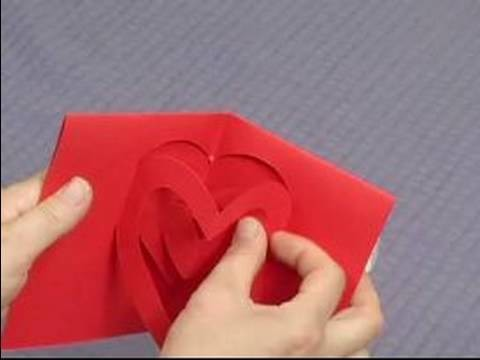 How to Make Pop-Up Cards & Envelopes : How to Make a Pop-Up Heart Card: Part 2