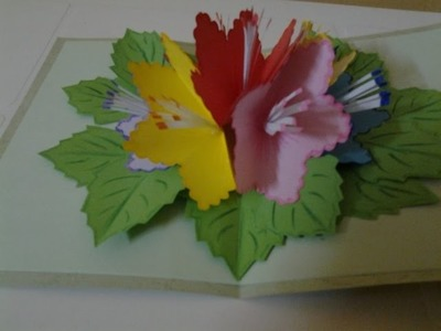 How to make Pop up flowers Card for Beginners #4