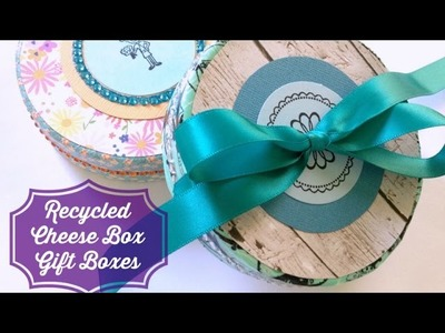 How to Make Recycled Cheese Box Gift Boxes