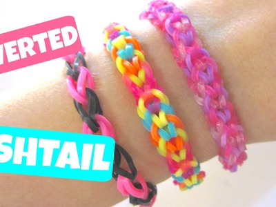 Inverted Fishtail Rainbow Loom Bracelet without Loom. using 2 Pencils