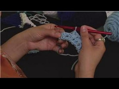 Knitting the Rib Stitch Crochet : Finishing Row 2: Rib Stitch Crochet