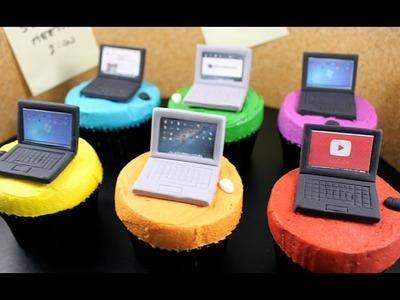 Laptop Computer Cupcakes! How to Make Mini Tech Cupcakes with Cupcake Addiction