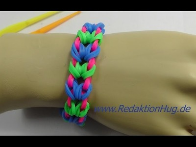 Loom Bands without Rainbow Loom only Hook A 16 english Tutorial