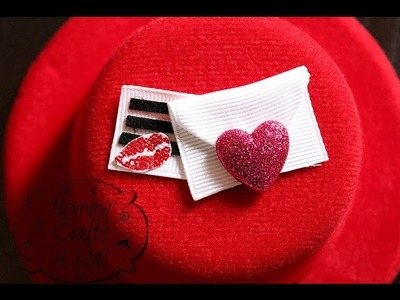 """Love Note"" hair clip tutorial by MommyCraftsalot"