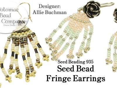 Make Seed Bead Fringe Earrings