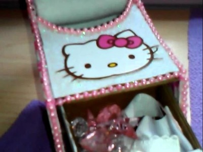 Manualidades,hello kitty. shoe organizer