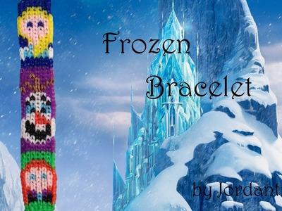 New Disney Frozen Bracelet Pattern - Alpha Loom. Rainbow Loom - Elsa Anna Olaf