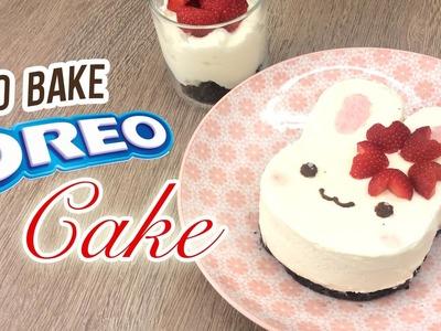 NO-BAKE Bunny Oreo Cheesecake!! The Perfect Summer Dessert