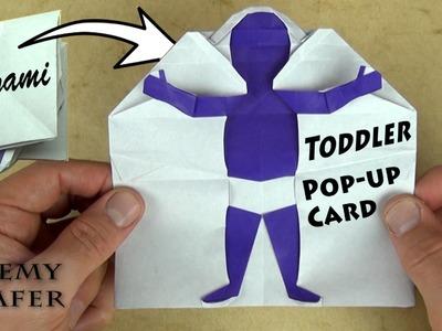 Origami Toddler Pop-up Card