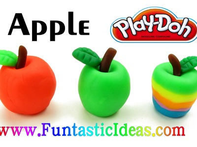 Play Doh Apple Mini 3D - How to with playdough