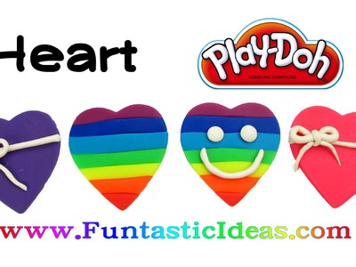 Play Doh Heart.Rainbow Heart.Valentine's Easy Fun for Kids