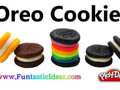 Play Doh Oreo.Rainbow Mini Oreo Cookies - How to with playdough tutorial by Funtastic Ideas