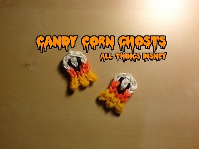 Rainbow Loom Candy Corn Ghost Charm: Halloween