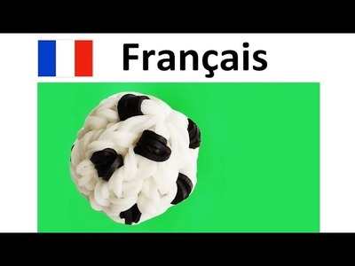 Rainbow Loom Francais. Bracelet Elastique Tuto. Ballon de Football. Loom bands