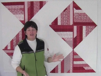 Red & White Jelly Roll Quilt - Quilt As You Go {reimagined}