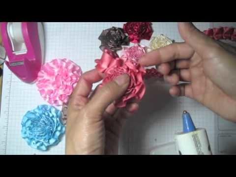 Ribbon trim flower tutorial