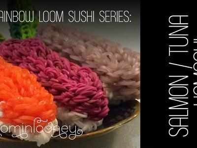 Salmon, Tuna & Hamachi - Nigirizushi Part2:  3D Rainbow Loom Sushi Series