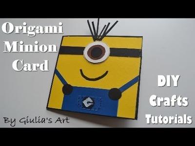 Simple Minion Card - Despicable Me Ideas - DIY Crafts Tutorials - Giulia's Art
