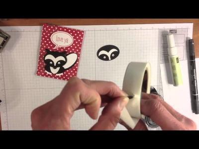 Skunk Punch Art Valentine Treat Bag