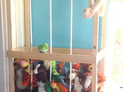 Stuffed animal storage tutorial : We built the zoo
