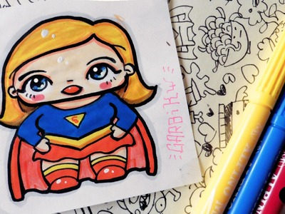 SuperGirl - How To Draw Chibi and Kawaii Characters by Garbi KW