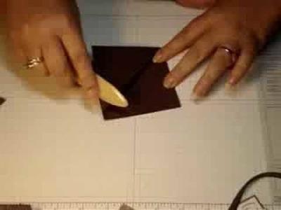 Triangle Tri-fold card with Dawn