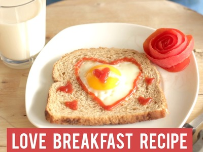 "Valentine Love Breakfast recipe: Enjoy your heart-shaped ""egg-in-toast"", honey!"
