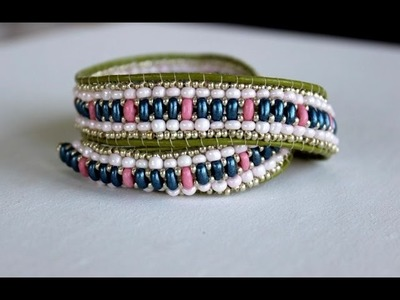 Wrapped Beaded Bracelet with Twin Beads