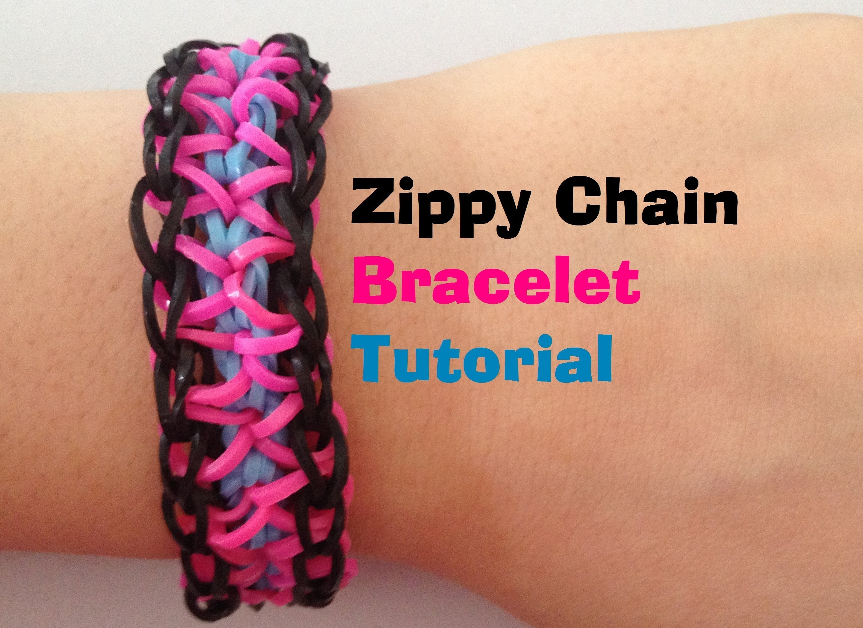 ZIPPY CHAIN Loom Bracelet Tutorial Rainbow Looml JasmineStarler