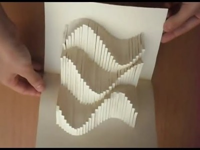 15 Pop Up Amazing Waves Card Tutorial , Origamic Architecture