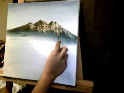Acrylic Mountain Painting