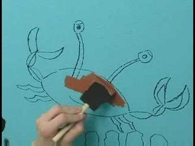 Children's Bathroom Mural : Child's Bathroom Mural: Paint Castle & Crab