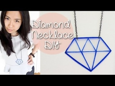 Chunky Diamond Necklace DIY with Homemade Shrink Plastic | Sunny DIY