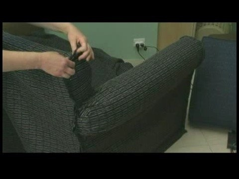 Creating a Couch Slipcover : Fitting & Pinning the Back of the Couch Slipcover