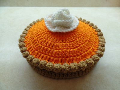 #Crochet Full Size Pumpkin Pie #TUTORIAL