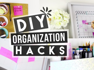 DIY Back to School Organization Hacks!