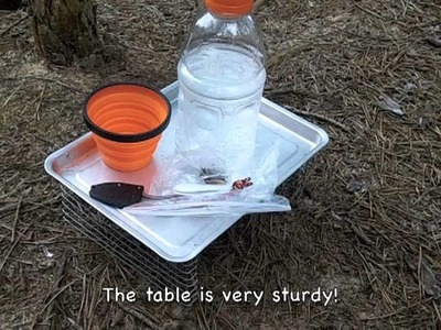DIY Backpacking Table