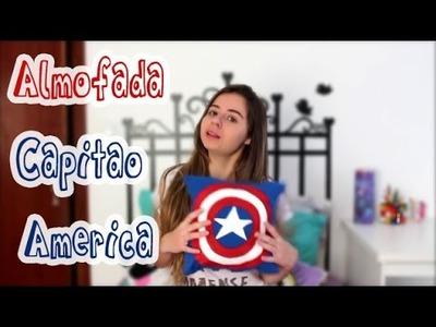DIY: Capitão América - Como customizar almofada (super herói)