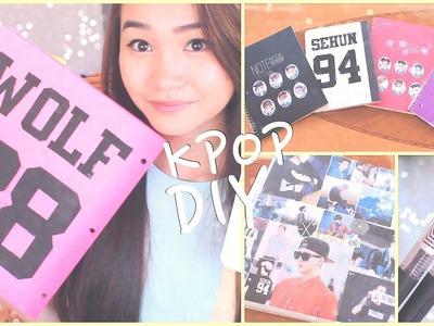 DIY K-POP School Supplies!♡Binders, Notebooks, Pens, etc.