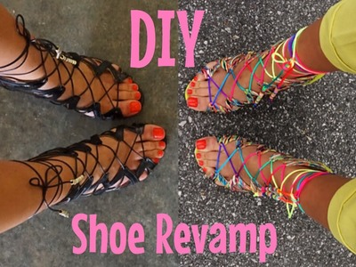 DIY SHOE REVAMP ( STRAPPY SANDALS )