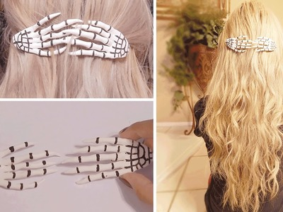 DIY: Skeleton Hand Hair Accessory
