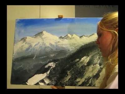 DrawingSand: Acrylic paint - Mountains