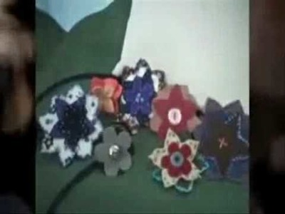 Fabric Flowers.  Instructions