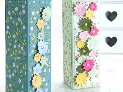 Fold Flat Box Tutorial using Stampin' Up! All Abloom DSP