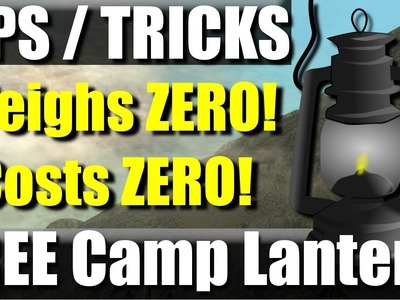 FREE Ultralight Backpacking gear: camp lantern tip.trick