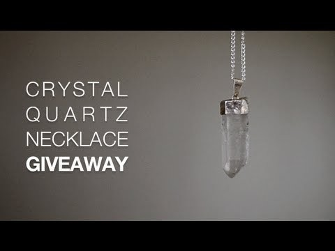 GIVEAWAY (Closed) | Crystal Quartz Necklace