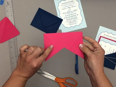 Hack an Envelope into a Pocket Wedding Invitation