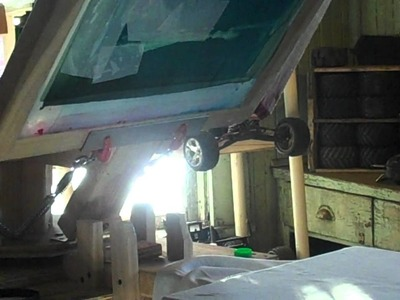Homemade 4 color screen printing press from Scubadan71