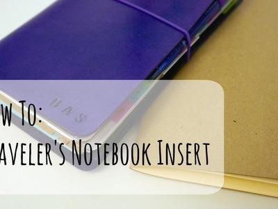 How to: DIY Traveler's Notebook Insert