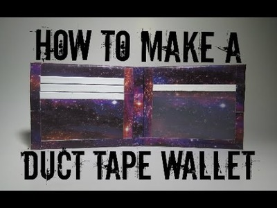 How to Make a Duct Tape Wallet for Beginners!! (Bi-Fold)